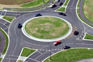 Перекресток с круговым движением.