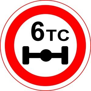 Знак 3.12 Ограничение веса на дороге.