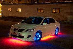 Разрешена или нет подсветка днища автомобиля.