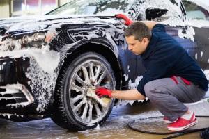 Где разрешено мыть машину.
