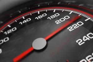 Размеры штрафов за превышение скорости.