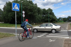 Наказание если не пропустил велосипедиста.