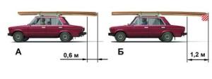 Обозначение перевозки груза на машине.
