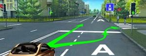 Автомобили при поворотах должны перестраиваться на нее, а затем совершать поворот