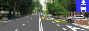 При выезде с прилегающей территории водитель ТС должен сначала выехать на полосу маршрутных транспортных средств, а затем съехать с нее и продолжить движение.
