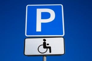"""Знак """"место для инвалидов"""""""