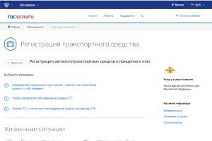Подача заявления на сайте Госуслуги