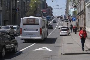 Ограничения при движени по автобусной полосе.