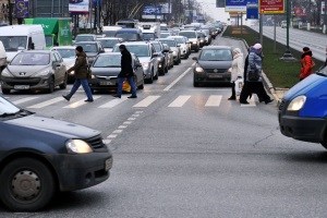 Размер штрафа если не пропустил пешехода на пешеходном переходе.