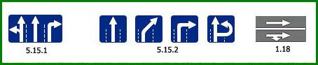Знаки предписывающие направление движения на проезжей части