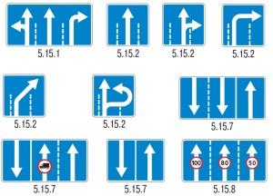 Дорожные знаки регламентирующие расположение транспортных средств на проезжей части.