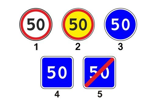 Дорожные знаки, которые предписывают, запрещают и рекомендую двигаться с определенной скоростью.