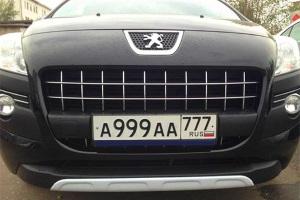 Сочетание блатных букв на гос. номерах автомобиля.