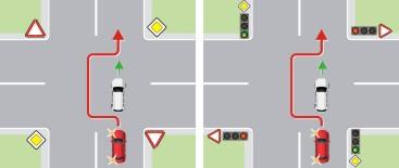 Обгон на перекрестках в населенном пункте