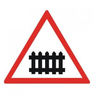 """Знак 1.1 """"Железнодорожный переезд со шлагбаумом"""""""